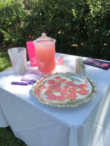 TGC's pink lemonade stand for breast cancer awareness